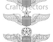 Air Force Pilot Wings Vector File