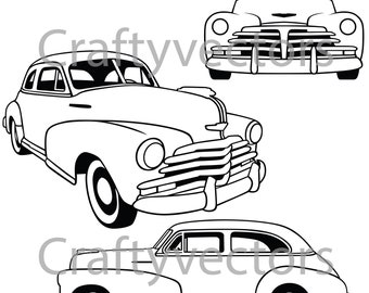 chevrolet fleetline lowered 1951 vector file etsy 1970 Chevy Malibu chevrolet fleetmaster 1948 vector file
