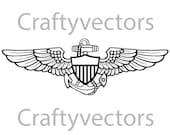 Navy Aviator Insignia Vector File