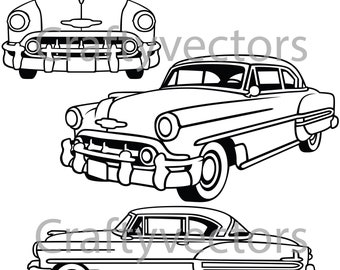 chevrolet bel air etsy 1970 Corvette Convertible chevrolet bel air 1953 vector file