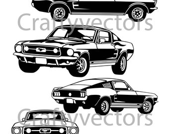 Ford Mustang Logo Vector Graphics