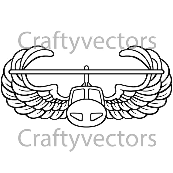 Army Air Assault Badge Vector File