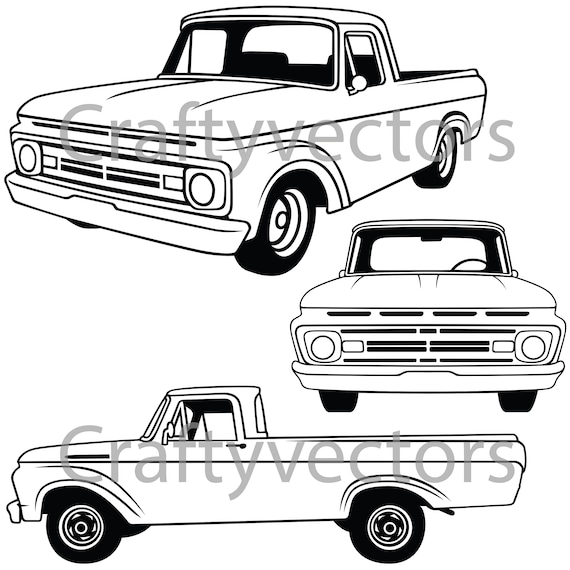 ford f100 1962 vector
