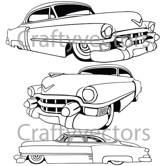 cadillac 1953 vector file etsy 1954 Studebaker Truck cadillac 1953 vector file