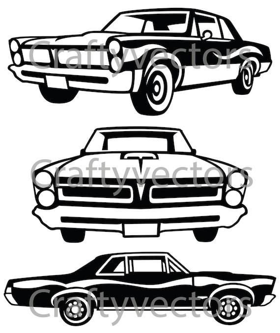 pontiac gto 1965 car vector file etsy 1967 GTO Car Black pontiac gto 1965 car vector file