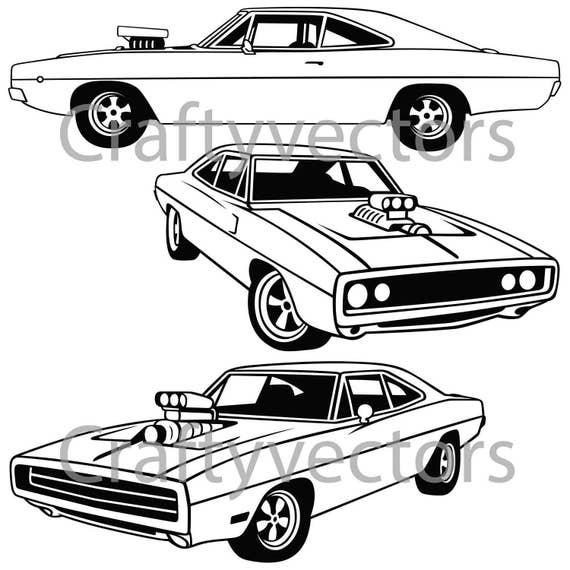 dodge charger 1970 vector file etsy Custom 2000 Mustang dodge charger 1970 vector file