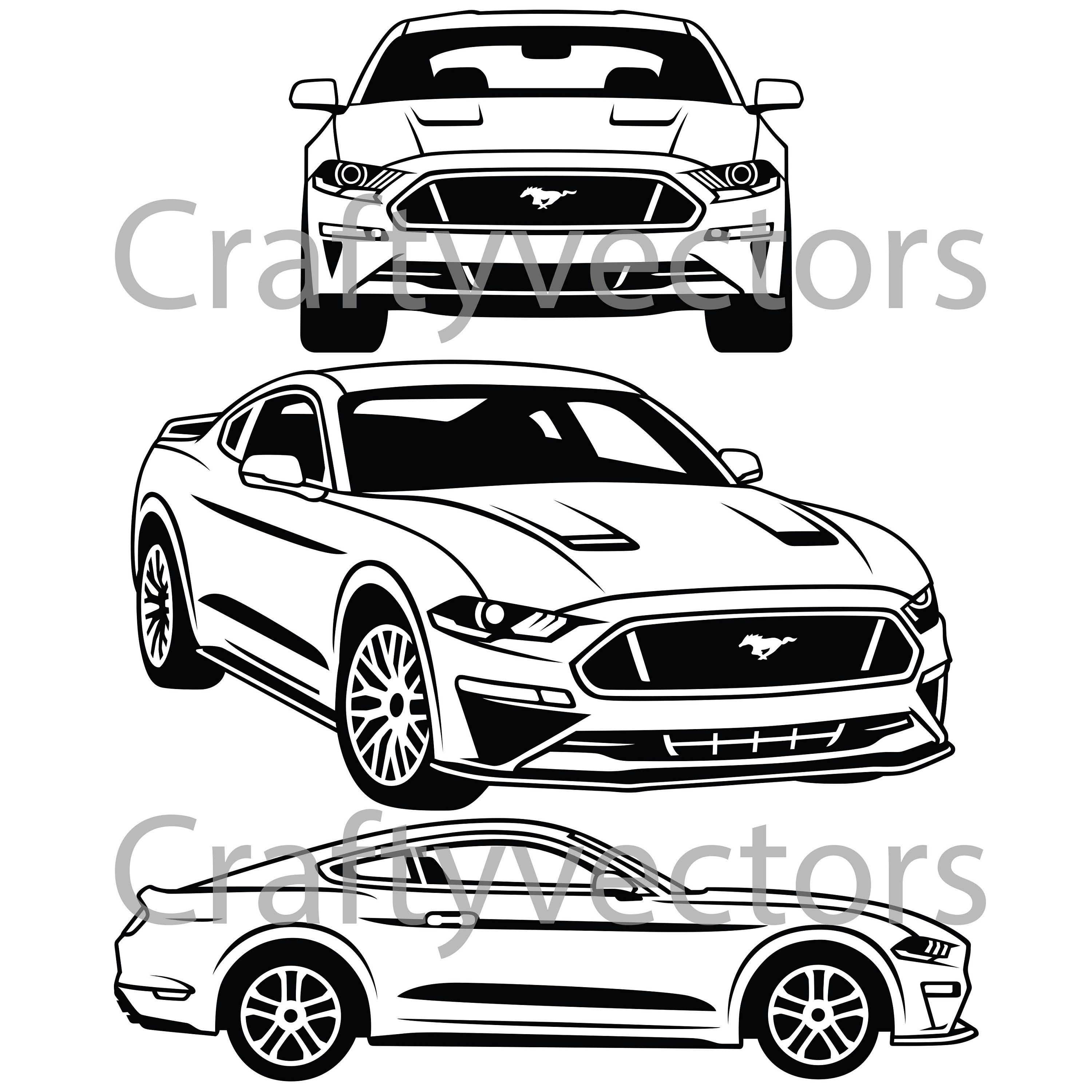 ford mustang 2018 vector svg cut file etsy 1967 Chevy Truck 50