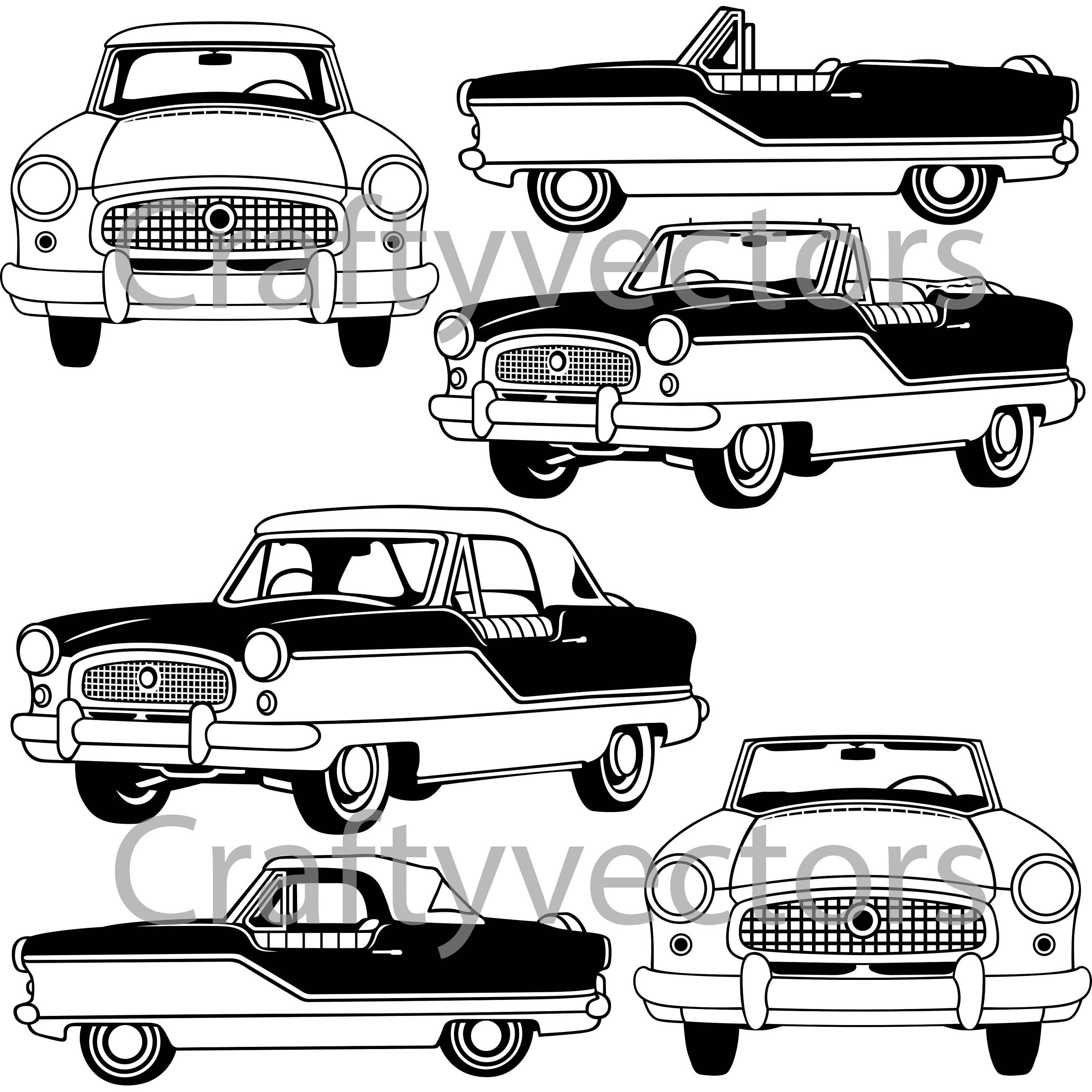 nash metropolitan convertible 1961 vector file etsy 1954 Chrysler Convertible for Sale 50