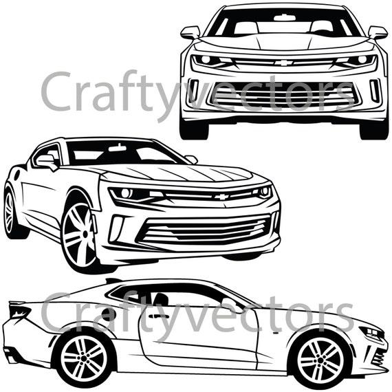 Chevrolet Camaro 2016 Vector Svg Cut File Etsy