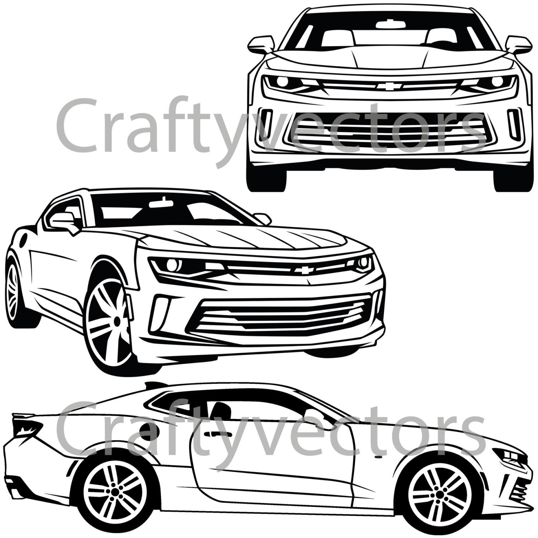 chevrolet camaro 2016 vector svg cut file etsy Old Chevrolet Camaro 50