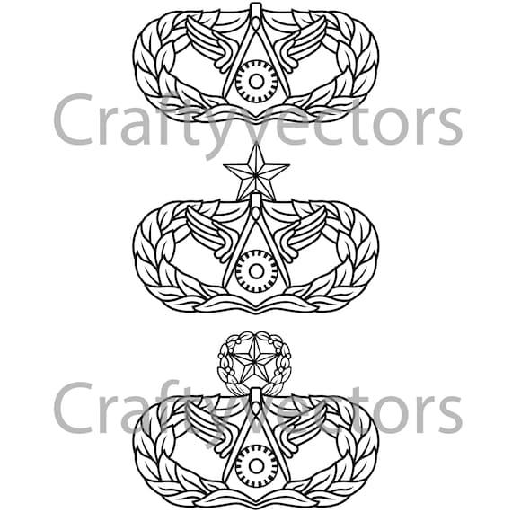 Civil Engineering Occupational Badge Vector File