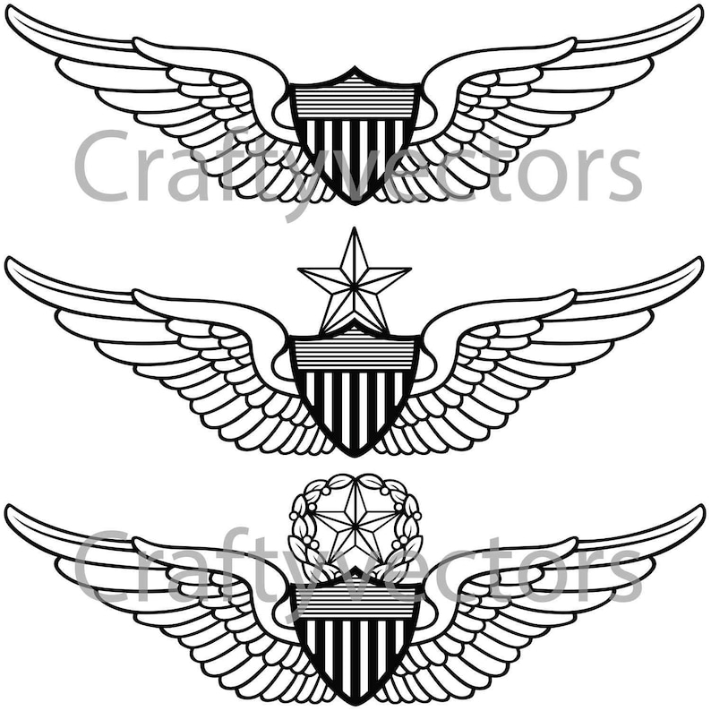 Army Aviator Wings Vector File