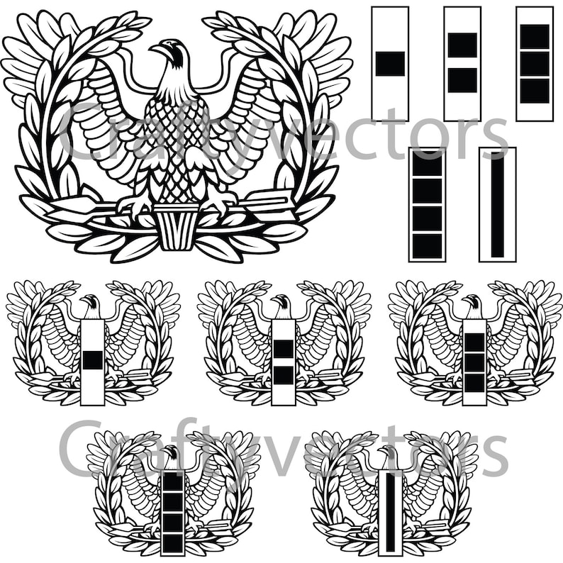 Army Warrant Officer Badge Vector File Svg