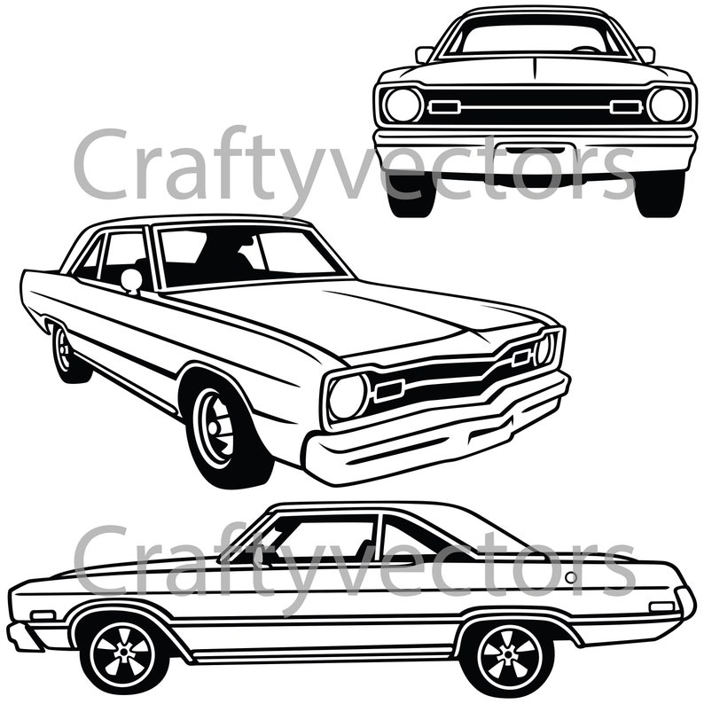 Dodge Dart 1973 Vector File