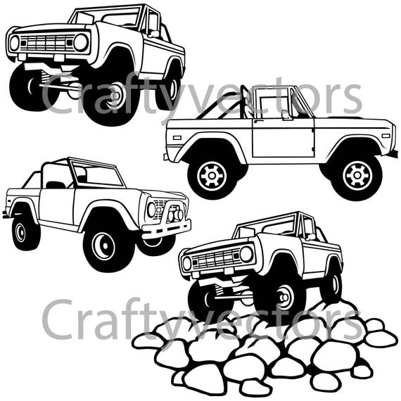 ford bronco open top vector file etsy 1956 Shelby GT ford bronco open top vector file