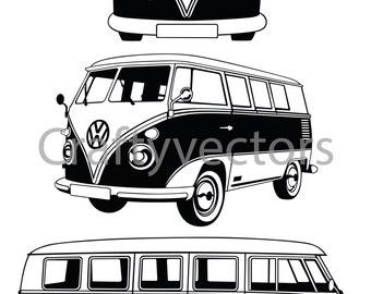 VW Camper Van Vector