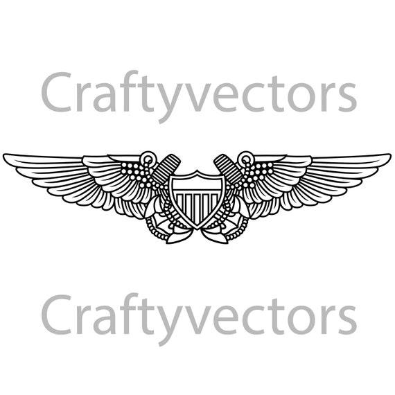 navy flight officer vector file | etsy  etsy