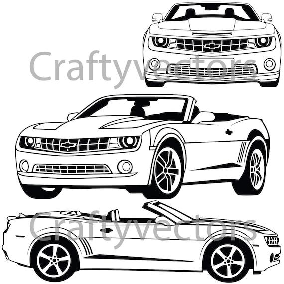 Chevrolet Camaro 2012 Vector File Etsy