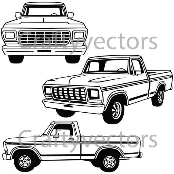 ford f100 1978 vector