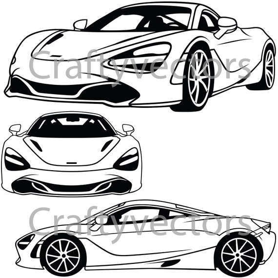 Mclaren 720s 2018 Coupe Vector File