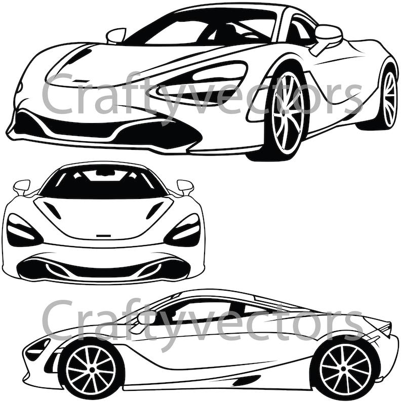 Mclaren 720s 2018 Coupe Vector File