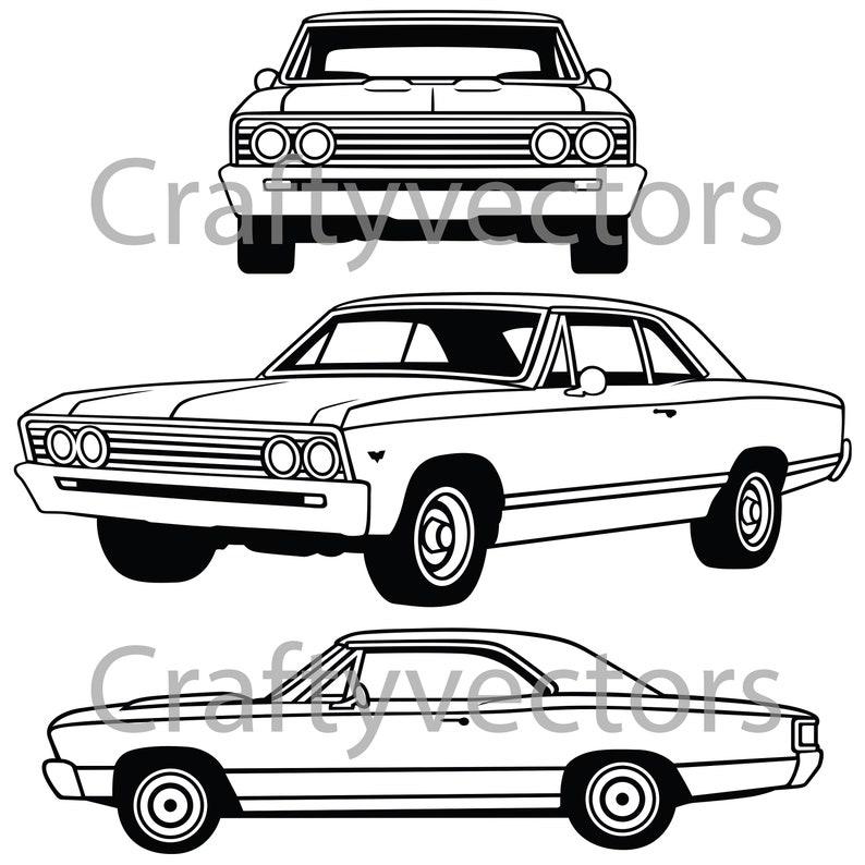 200ec44ced7 Chevrolet Chevelle 67 Vector File