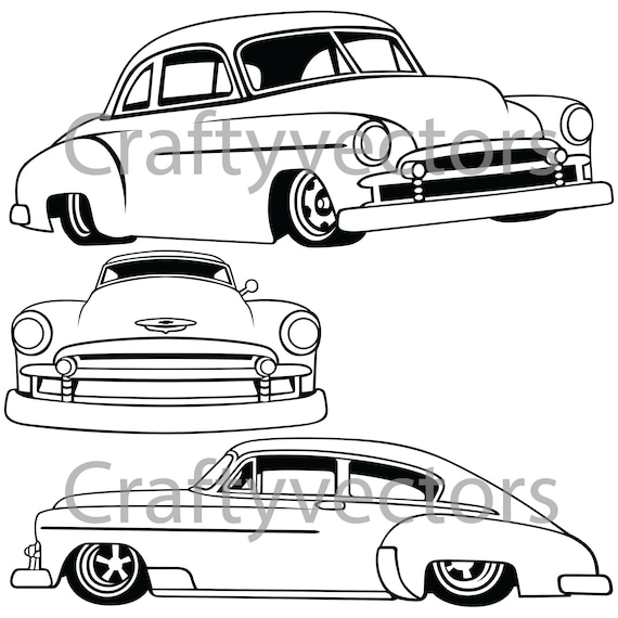 chevrolet fleetline lowered 1951 vector file etsy 1970 Chevy Police Car chevrolet fleetline lowered 1951 vector file
