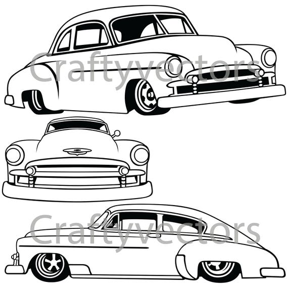 chevrolet fleetline lowered 1951 vector file etsy 1956 Chevy Car Model chevrolet fleetline lowered 1951 vector file