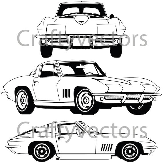 corvette stingray 1967 vector file