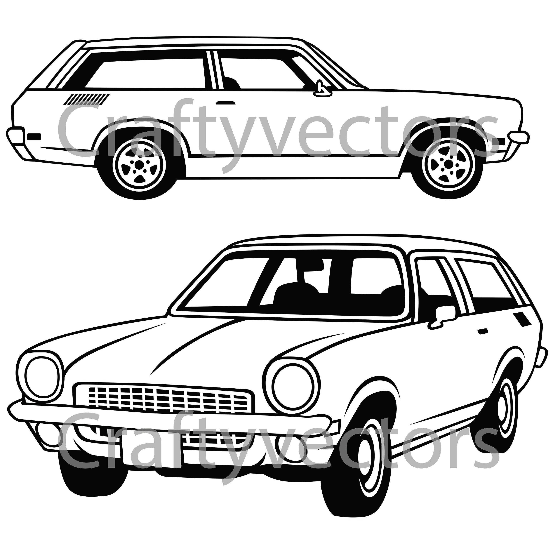 chevrolet vega wagon 1972 vector file etsy 76 Impala Custom 50