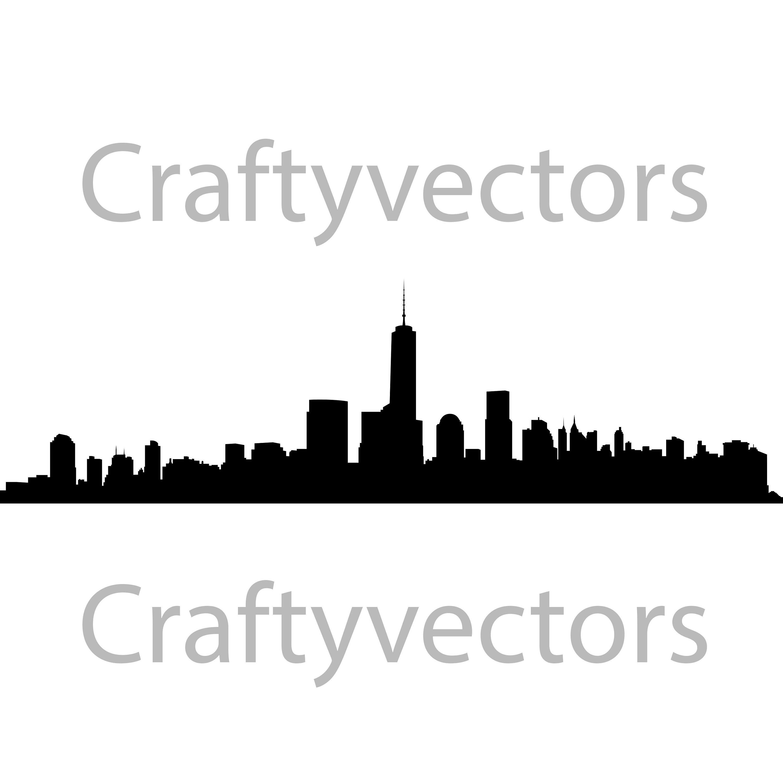 New York City Skyline Vector File Etsy
