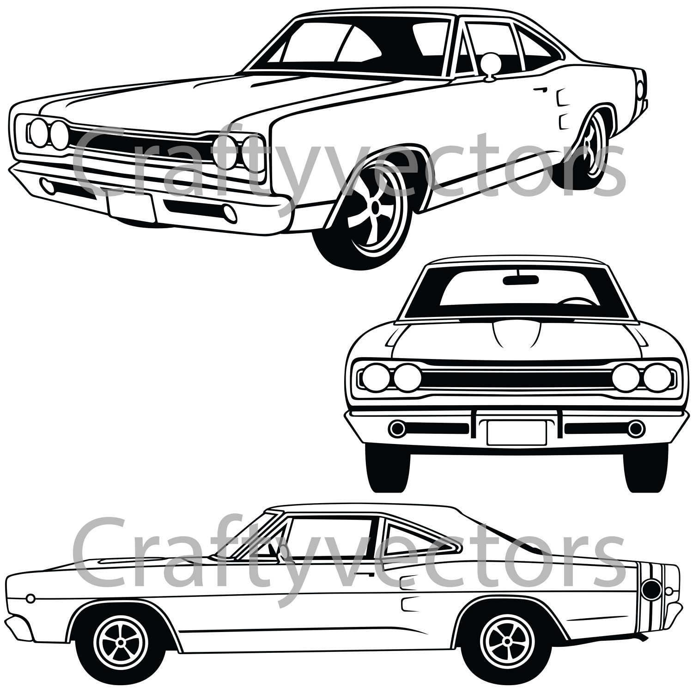 Dodge Coronet Superbee 1968 Vector File