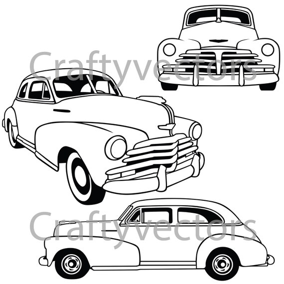 chevrolet fleetmaster 1948 vector file etsy AMT Model Cars image