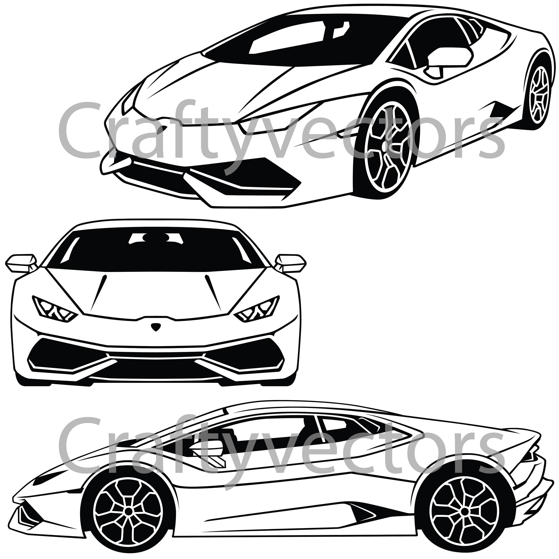 Lamborghini Huracan Coupe Vector File