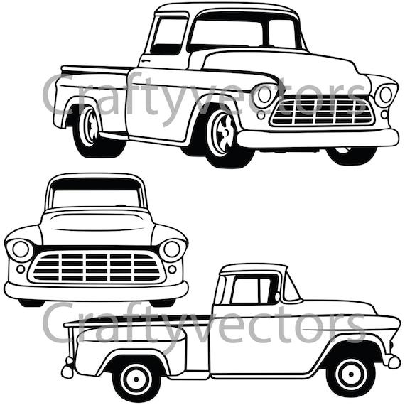 chevrolet truck 1956 vector file