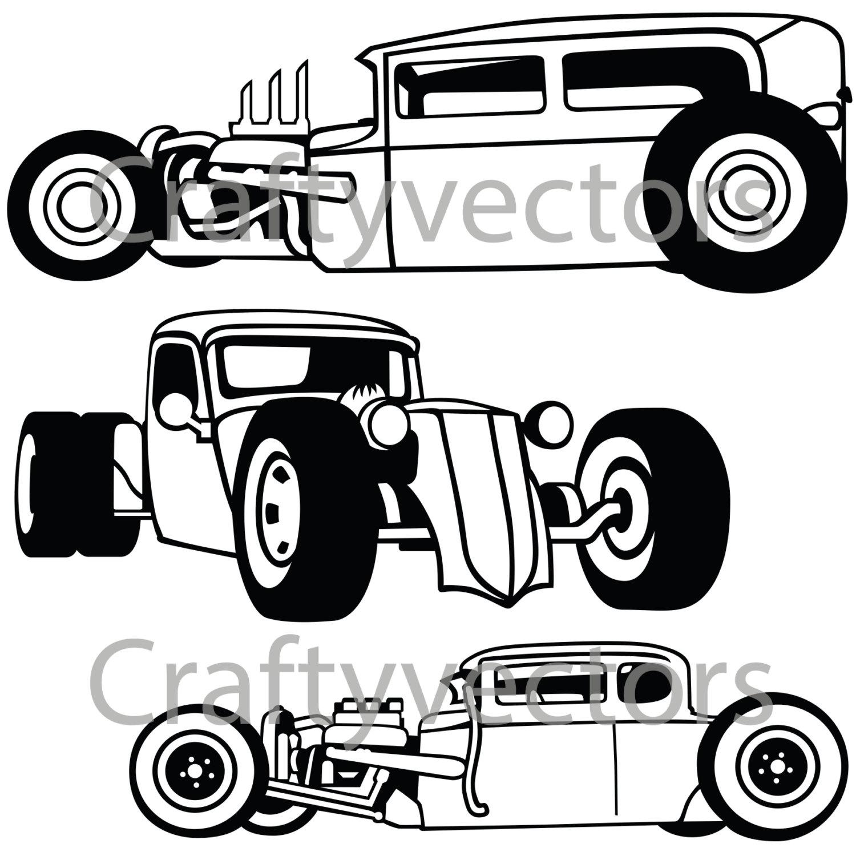 rat rod cars svg vector files etsy 1970 Dodge Coronet Convertible 50