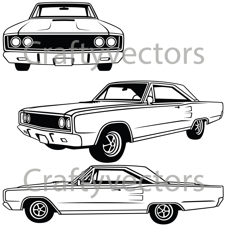 dodge coronet 1967 etsy Pontiac GTO Custom 50