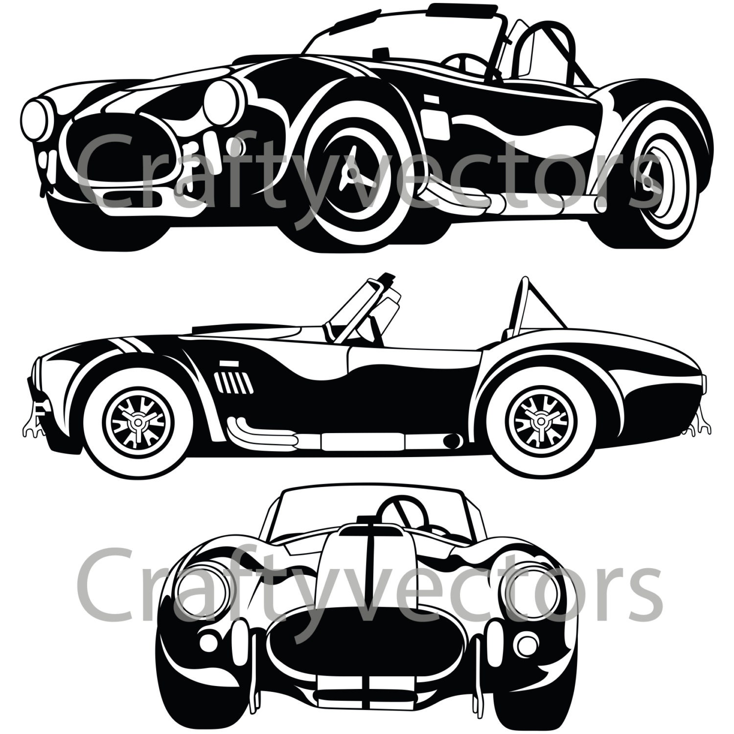 shelby ac cobra 67 vector file etsy 1956 Ford Shelby GT350 50
