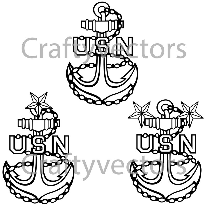 Navy Officer Anchor Insignia Vector File