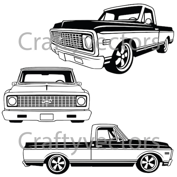 Chevrolet c10 truck 1970 to 1971 vector file etsy image 0 publicscrutiny Image collections