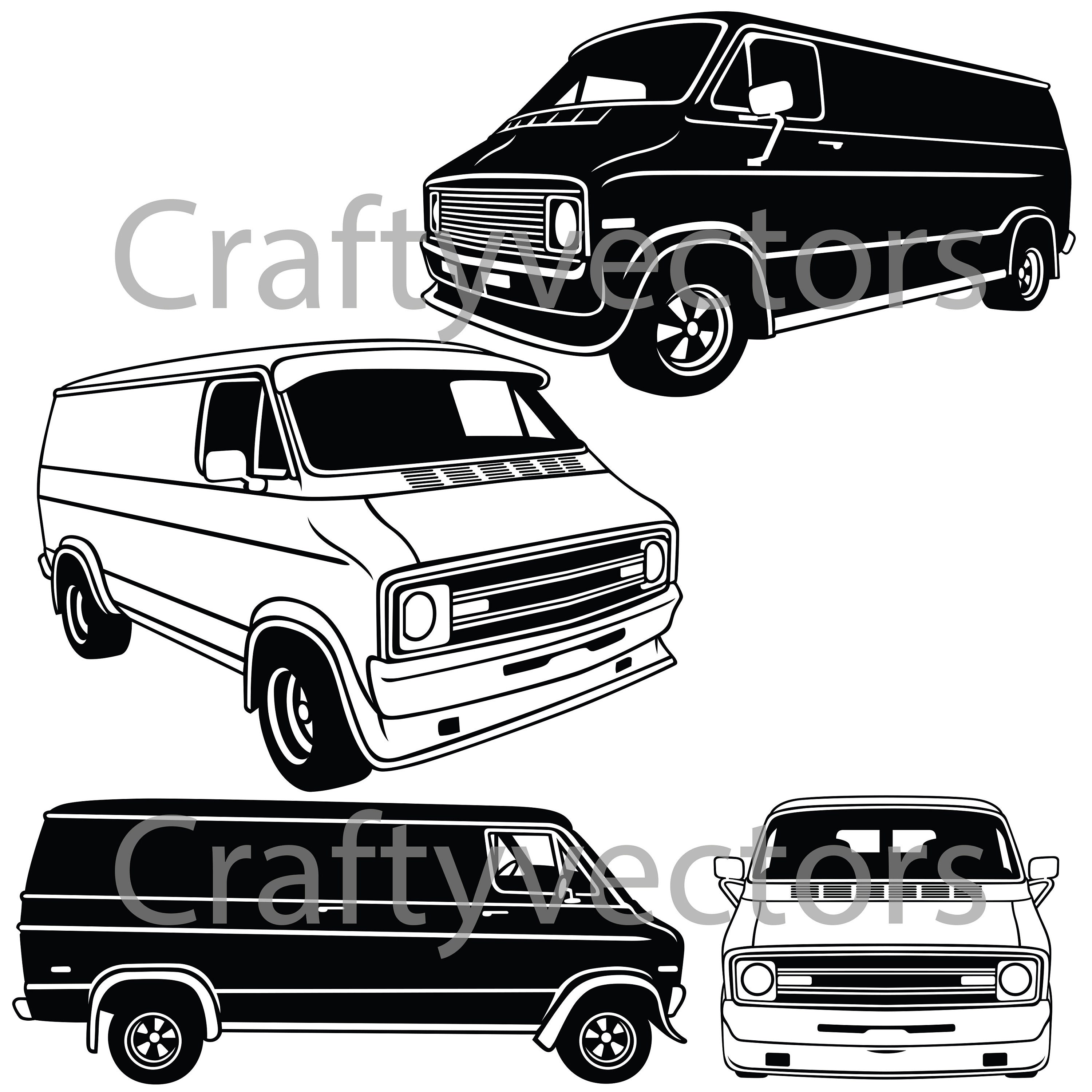 dodge tradesman van vector file etsy Mustang Coupe 50