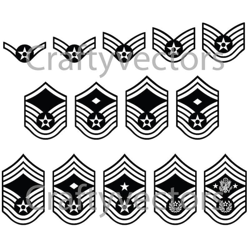 Air Force Ranks Vector File