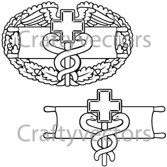 Army Medical Badge Vector File Svg