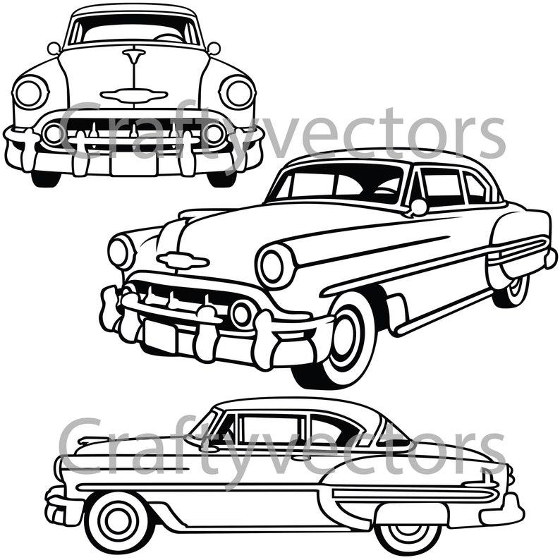 Chevrolet Bel Air 1953 Vector File