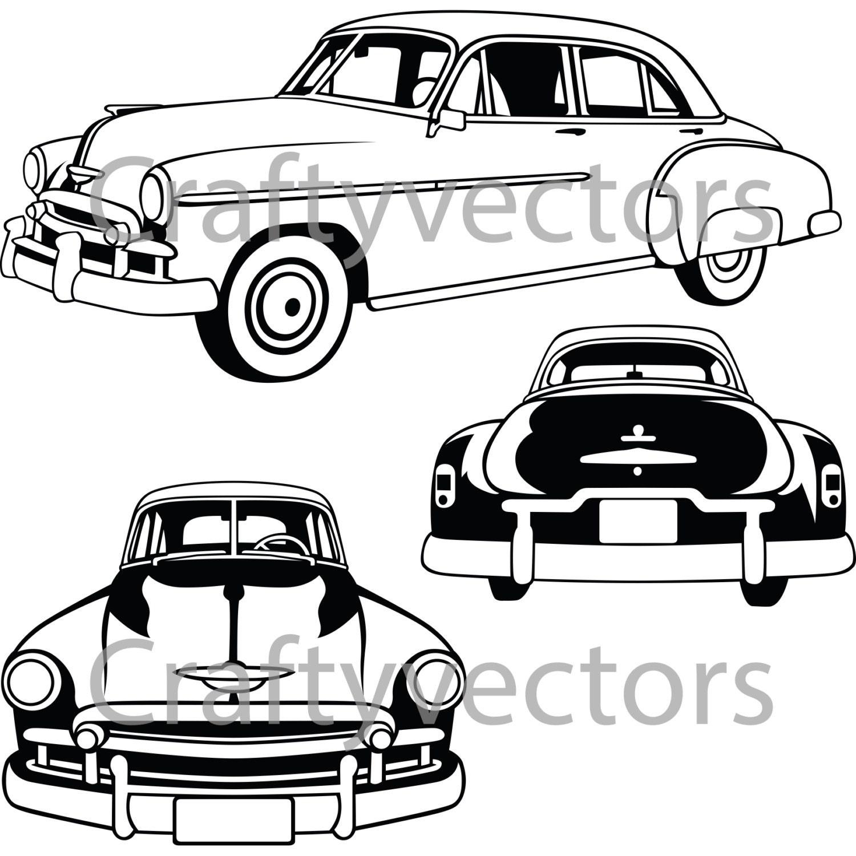 chevy deluxe 1950 etsy 1951 Chevrolet Styleline Deluxe 4 Door 50