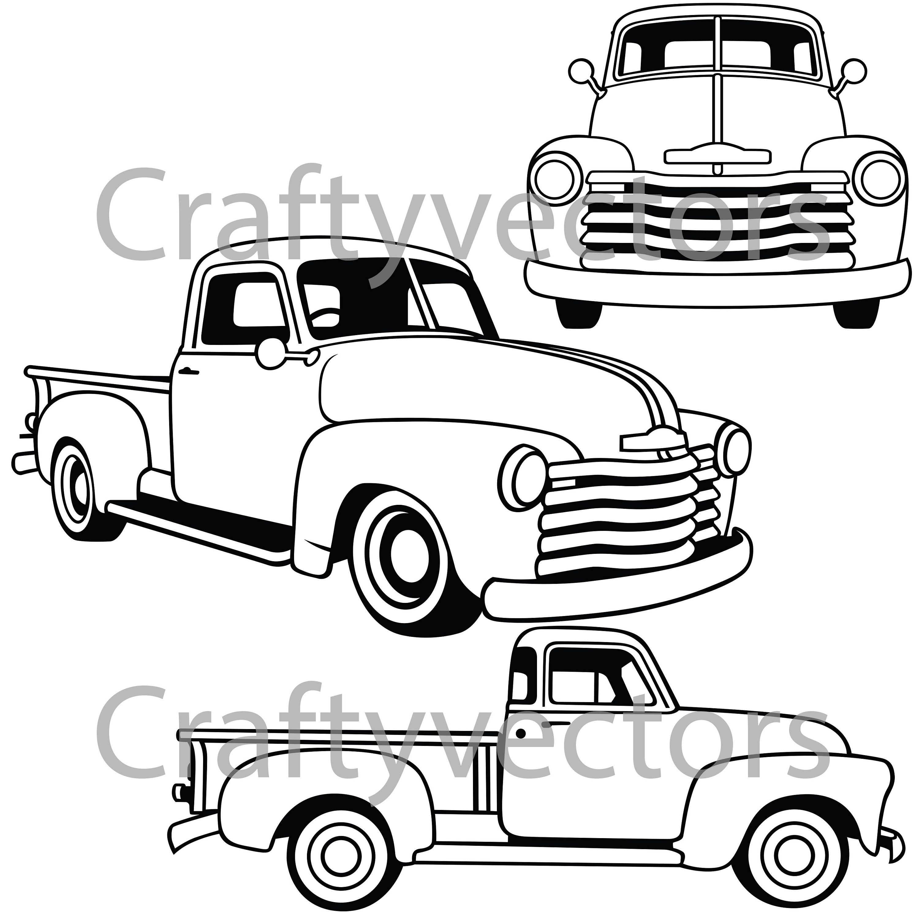 chevrolet 3100 stepside vector file