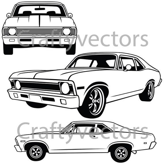 chevrolet nova 1968 vector file
