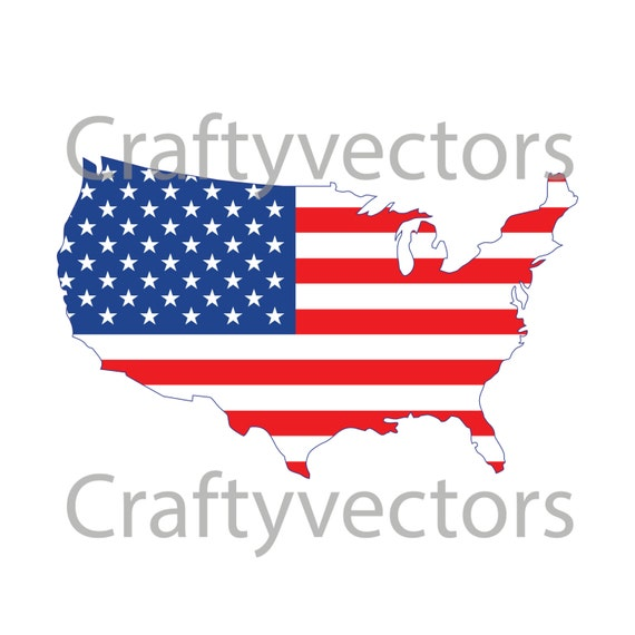 USA Map Vector file | Etsy