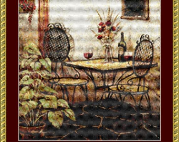 The Venetian Cross Stitch Pattern /Digital PDF Files /Instant downloadable