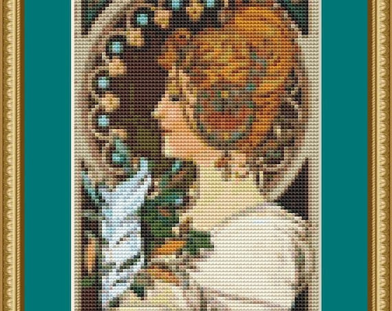 Feather Cross Stitch Pattern /Digital PDF Files /Instant downloadable